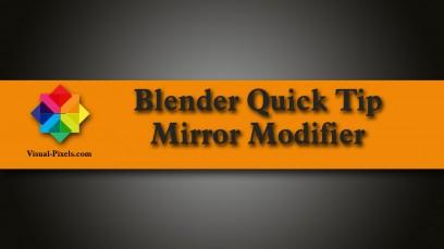 Blender Quick Tip: Mirror Modifier