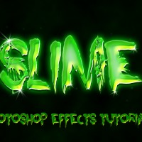 Slimy Text Effect with Photoshop